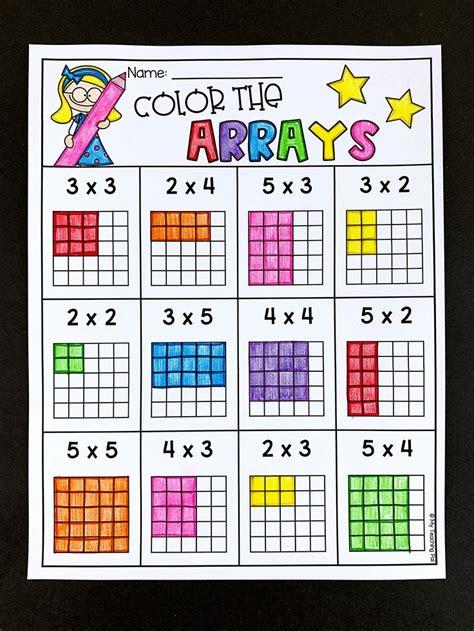 arrays multiplication worksheets teaching multiplication