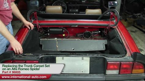Replacing The Trunk Carpet Set On An Alfa Romeo Spider