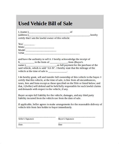 car bill  sale   word  documents