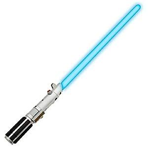 disney light saber hasbro luke skywalker blue ultimate fx light up lightsaber
