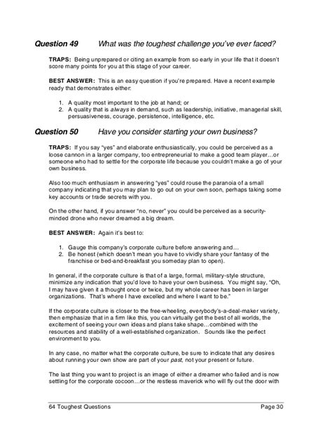 How To Answer Tough Resume Questions by 50 Toughest Questions 50 Toughest Questions 50 Toughest