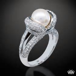 pearl wedding rings pearl engagement rings