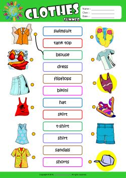 clothes worksheet  kids mywallpapers site