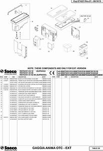 Gaggia Anima Prestige Parts Diagram User Manual