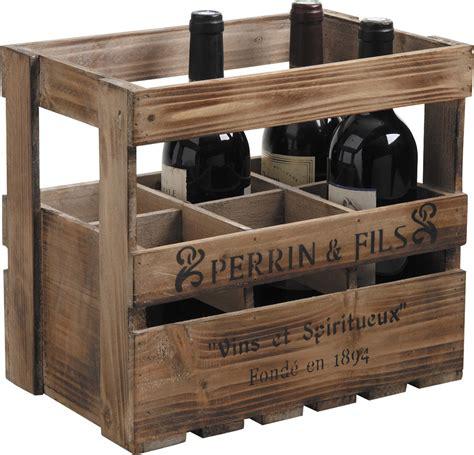 mobiler de bureau caisse en bois 6 bouteilles