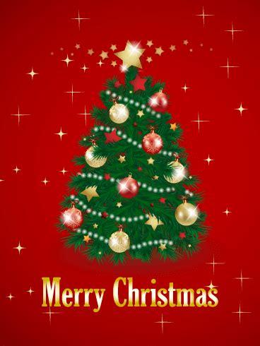 christmas tree card birthday greeting cards  davia