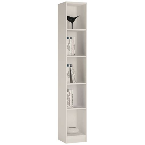 tall narrow white bookcase 4 you tall narrow bookcase in pearl white