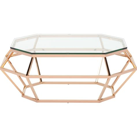 rose gold table l rectangular coffee table by nuevo hgsx183 home