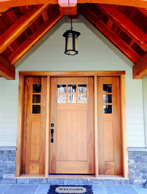 New Front Door And Frame by Timber Frame Exterior Doors New Energy Works