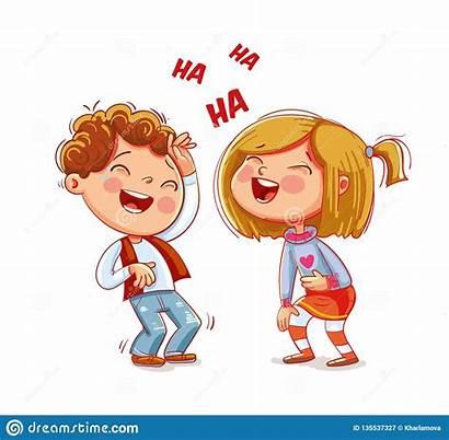 Divertido Laugh Animados Beeldverhaalkarakter Lachen Grappig Kinderen