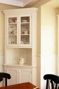 kitchen corner cabinet ideas traditional white corner hutch