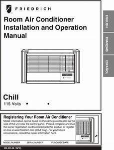 Friedrich Air Conditioner Cp08g10 User Guide