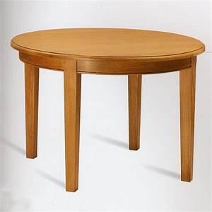 Table Ronde En Chene : petite table ronde en chene pieds droits meubles de normandie ~ Teatrodelosmanantiales.com Idées de Décoration