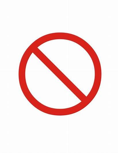 Prohibited Sign Clipart Svg Prohibition Clip Vector