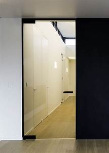 Porte D Intérieur Sur Mesure : porte vitr e sur mesure avec charni res noir portes vitr es int rieures ~ Melissatoandfro.com Idées de Décoration