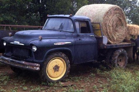 Chevy 57 1 1/2 Ton Farm-built Flatbed He Tells Us The