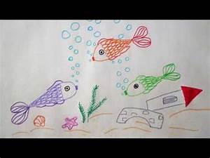 Fische Für Anfänger : fische zeichnen f r kids unterwasserwelt malen how to draw fish underwater ~ Orissabook.com Haus und Dekorationen