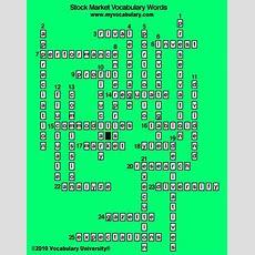 Stock Market & Finance Vocabulary Games, Stock Market & Finance Vocabulary Puzzles Www