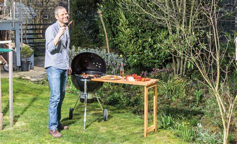 grilltisch selber bauen grill ablage selbst de