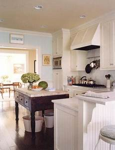 Beadboard kitchen cabinets cottage kitchen elizabeth for What kind of paint to use on kitchen cabinets for wall art coastal