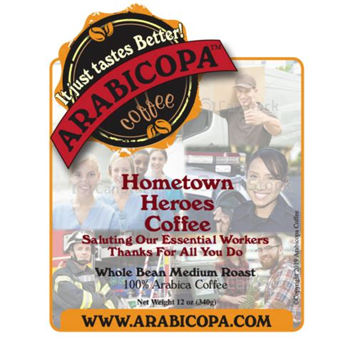 Order now for pick up or delivery : Hometown Hero Coffee - Arabicopa Coffee