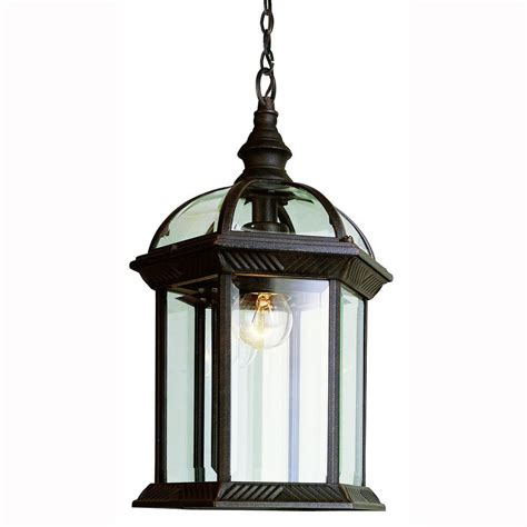 home depot outdoor hanging lights home decorators collection wilkerson 1 light black outdoor