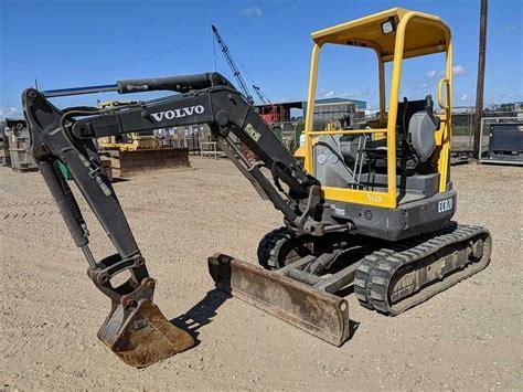 volvo ecr mini excavator sold   mini excavator construction equipment
