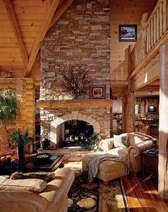 47 extremely cozy and rustic cabin style living rooms for Log cabin living room decor
