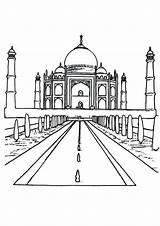 Mahal Taj Coloring Printable Pages Getcolorings sketch template
