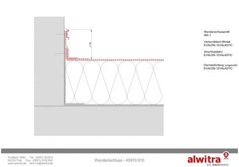 flachdach ohne attika flachdach details wandanschluss alwitra