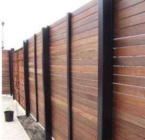 types  fences   home design ideas    modern wood fence wood