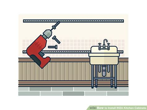 how to hang ikea kitchen cabinets how to install ikea kitchen cabinets with pictures wikihow 8670