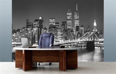 bureau peint papier peint york pour un intérieur moderne et original