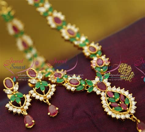 nl ruby emerald necklace traditional indian jaipur