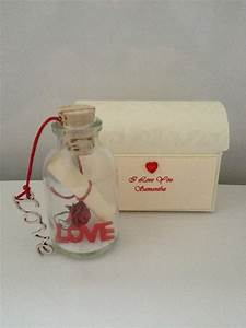 personalised romantic love message in a bottle boyfriend With love letter in a bottle romantic personalized gifts