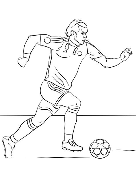 soccer player coloring pages  printable soccer player