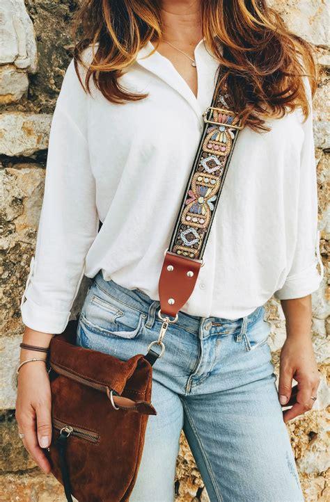 guitar strap purse  sequin details handbag strap crossbody strap shoulder strap