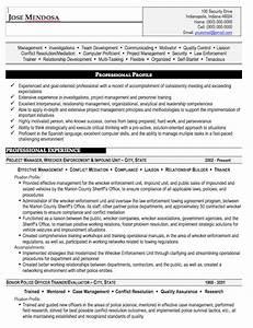 law enforcement resume sample free resume template With law enforcement resume template