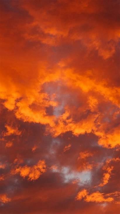 Orange Clouds Fiery Galaxy Aesthetic Asus Samsung
