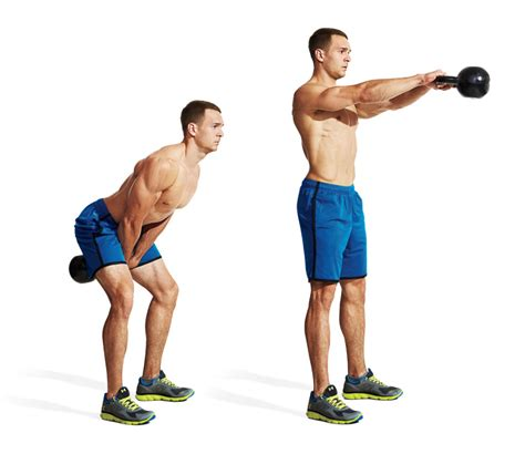 kettlebell swing swings workout exercises leg fat fitness cardio mass loss kb workouts kettle bell strength dumbbell burning idiot proof