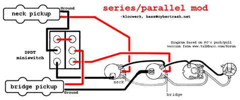 Wireing Diagram Parallel And Series Wiring by Series Parallel Wiring Diagram Bass Guitar In 2019