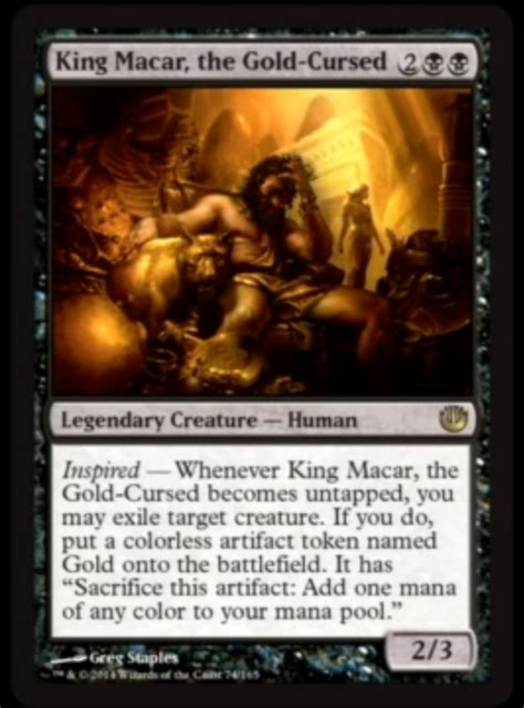 mtg mill king edh gold macar magic salvation general exile