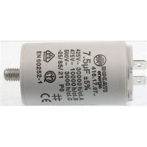 condensateur pour seche linge condensateur 7 5uf 450v de demarrage pour seche linge