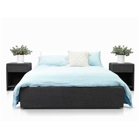 milton flush charcoal queen lift bed james lane