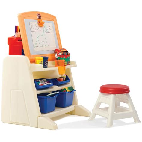 step2 easel desk walmart step 2 174 flip doodle easel desk with stool 190679 toys