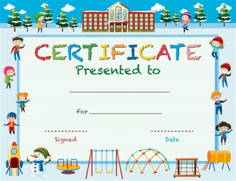 certificate template  kids fee schedule template
