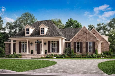 house plans 3 bed acadian house plan with bonus expansion 51779hz