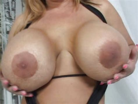 Crystal Storm Lets Her Big Tits Hang While She Is Being
