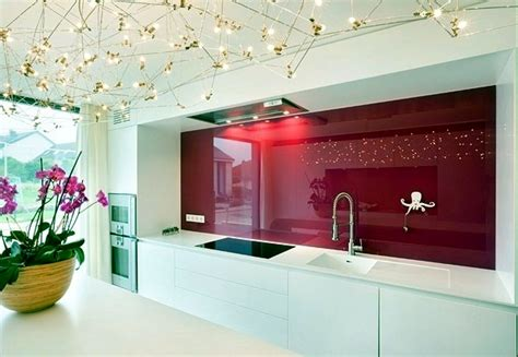 Paint Color Ideas For Kitchen Walls - modern glass kitchen splash back wall designs offer protection in the kitchen interior design