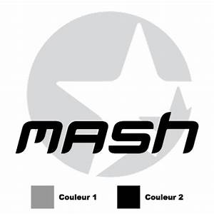 Mash logo in 2 colors Decal